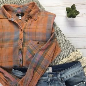BDG Light Weight Popover Flannel Top Size XS